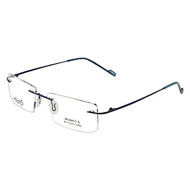 cdca90a631b Zyaden Rimless Rectangle Unisex Eyewear(Blue
