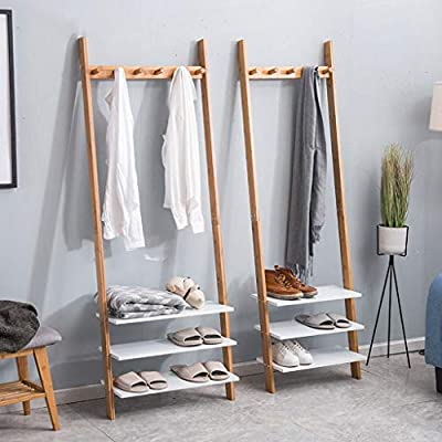 YANGFH Sencillo Perchero Moderno Dormitorio de Rack Percha de Madera Maciza Colgante de Pared Creativo Multifuncional Colgador de Escalera 175x35x25cm (43) (53) Perchero (Size : L): Amazon.es: Hogar
