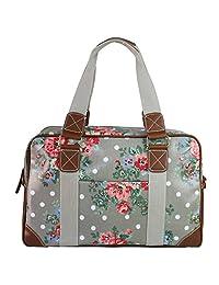 Miss Lulu Ladies Print Oilcloth Hand Shoulder Travel Overnight Weekend School Bag