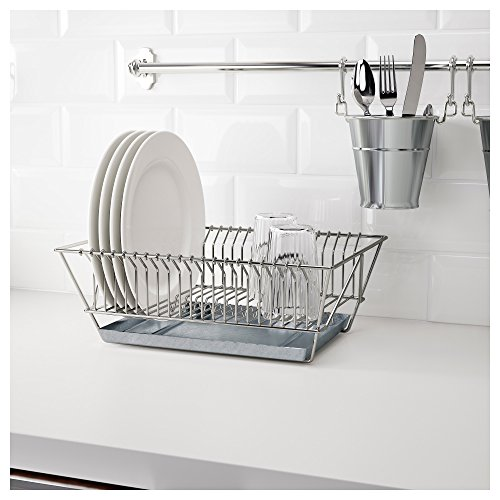 Wall Dish Drainer (Ikea Stainless Steel Dish Drainer 802.131.73 (Silver))