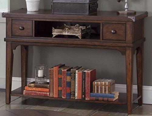 "Liberty Furniture INDUSTRIES 316-OT1030 Aspen Skies Sofa Table, 48"" x 17"" x 32"", Russet Brown"