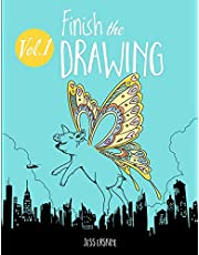 Finish the Drawing (Volume 1): 50 creative prompts for artists of all ages to sketch, color and draw!
