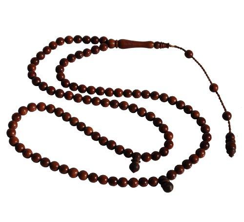 Small 6mm 99-Bead Dark Brown Turkish Kuka - Koka Seed Praying Beads - Islamic Zikr Beads ()
