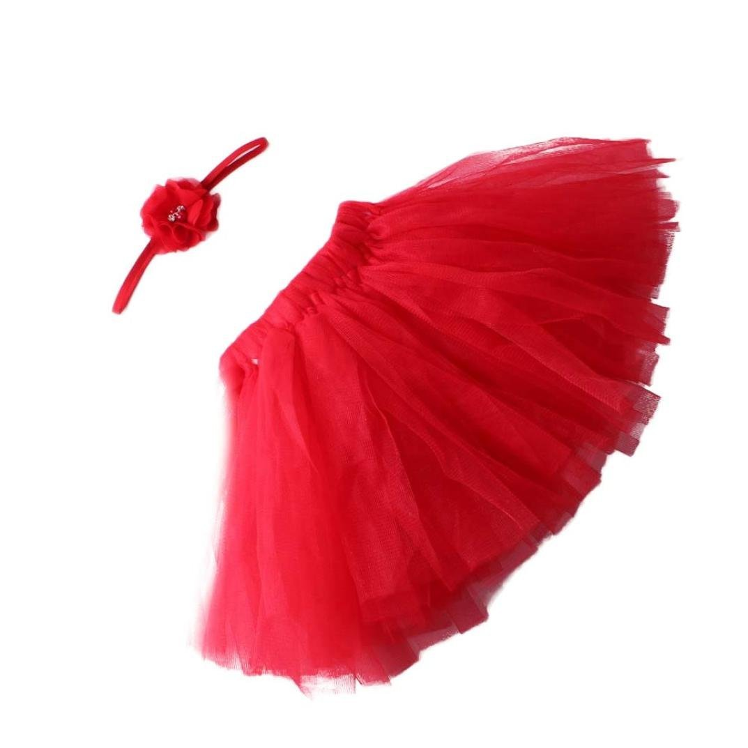 Ouneed Cute Baby Girls Tutu Dress Costume Photo Photography Prop Outfits (Black) 54652321