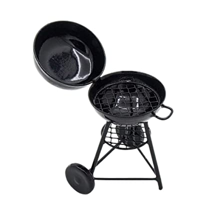 Vintage Miniature Dollhouse Round Barbecue Grill 1:12 Scale New