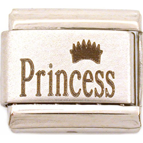 - Princess Crown Italian Charm Laser 9mm