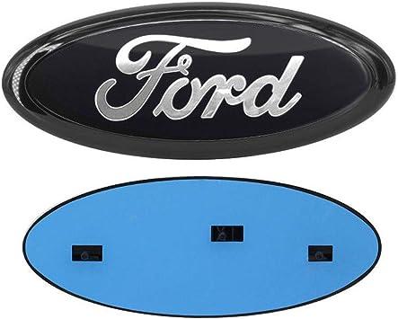 """2 NEW Ford 9/"""" Front Grille /& Tailgate Emblems F150 Badge sign symbol logo BLACK"""