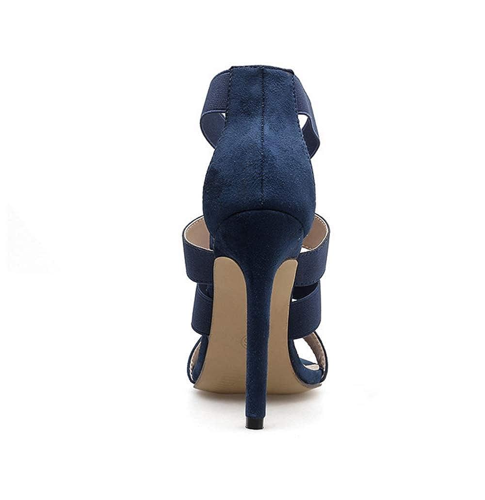KOKQSX-Damenschuhe runden Kopf sexy sexy sexy hochhackige Sandalen  ab6611