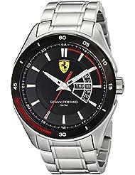 Ferrari Mens 0830189 Gran Premio Silver-Tone Stainless Steel Watch
