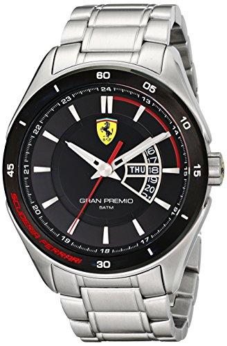 Ferrari Men's 0830189 Gran Premio Silver-Tone Stainless Steel (Logo Sport Steel Watch)
