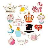 MJartoria Car Flamingo Alpaca Novelty Cartoon Enamel Brooch Pin Set of 11 (Magic hat)