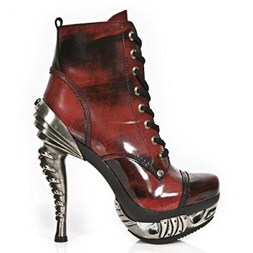 New Rock Laarzen M.mag016-r2 Elegant Rots Damen Stiefelette Rot