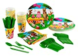 Puppy Dog Party Supplies – Serves 24 – Includes Plates, Knives, Spoons, Forks, Cups and Napkins. Perfect Puppy Birthday Party Pack for Kids Dog Themed Parties.