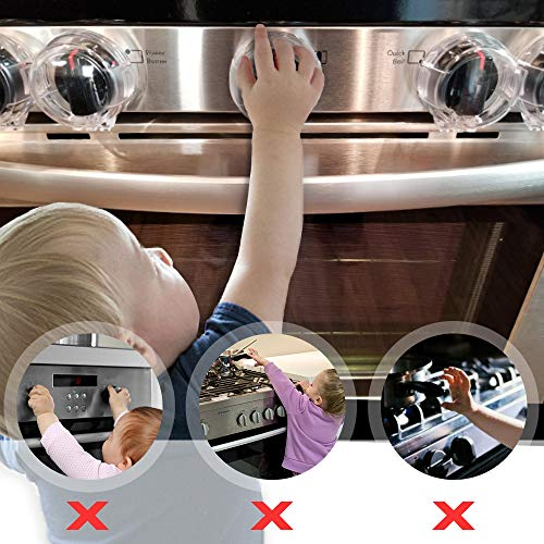 Eudemon Clear 6pack Safety Children Kitchen Stove Gas Knob Covers (6 Pack, Transparent) by EUDEMON (Image #2)