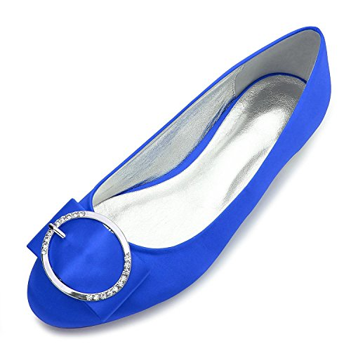 Zapatos Bola Las Gran Elegant 5049 TamañO Por SatéN Punta Encargo Zapatos Estrecha Mujeres Boda De De Metal Boda De high 31 Blue shoes Q Stretch BBwYqRP