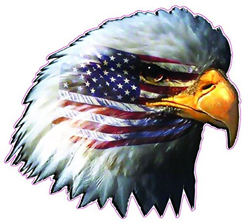 - American Flag Eagle Head Small Decal 3