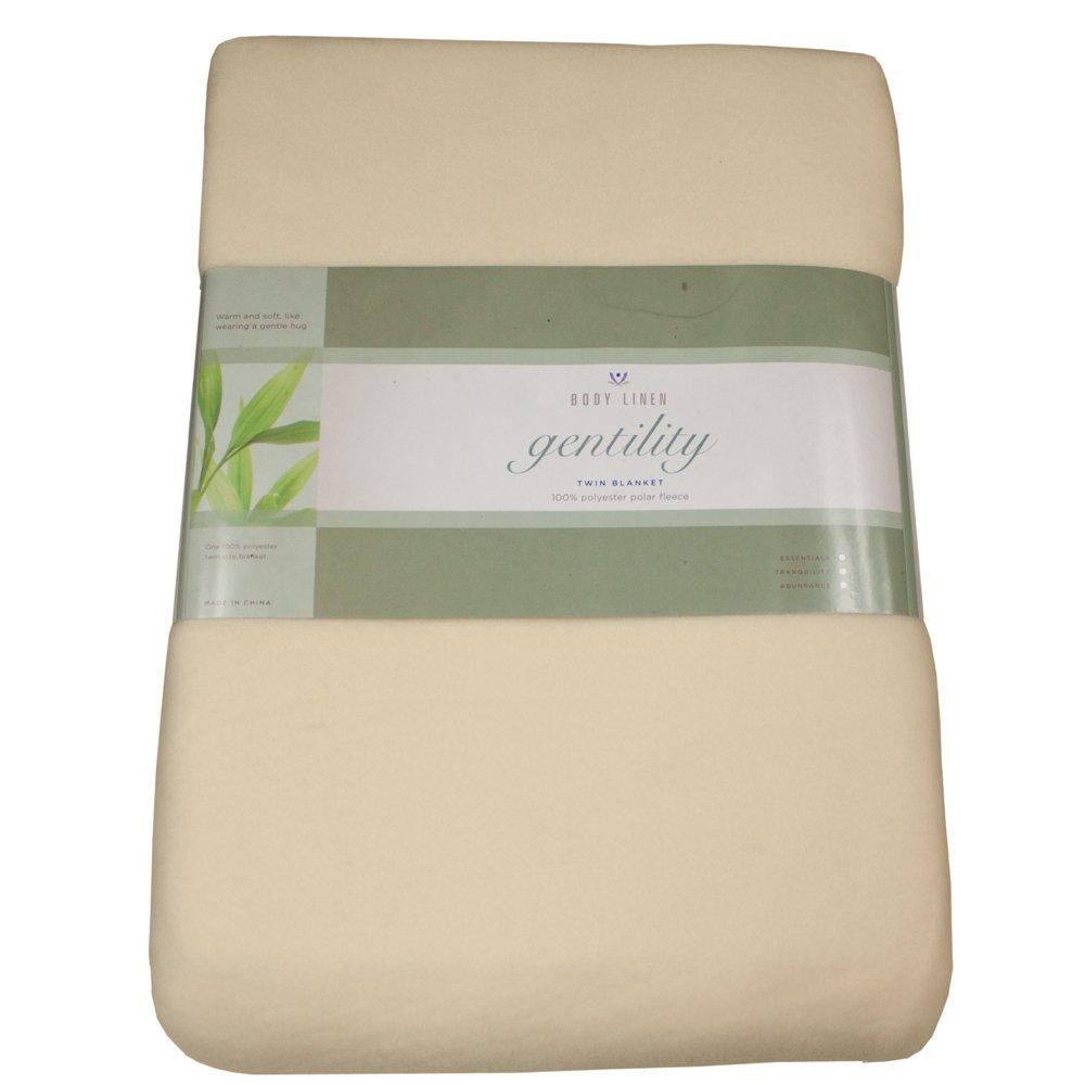 Gentility Polar Fleece Massage Table Blanket , Natural