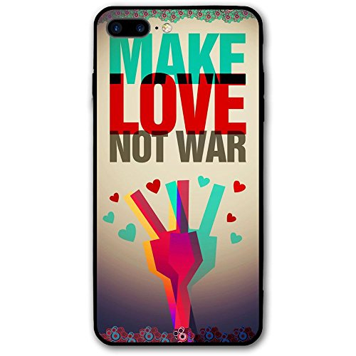 Anti War Make Love Not War IPhone 7 Plus Case Clearly Designed Texture Pattern Premium Hybrid Protective Clear Case For Apple IPhone 7 Plus