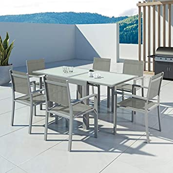 IMS GARDEN Hara-Table de jardín Extensible Aluminio 90 ...