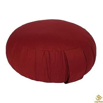 Yogabox Cojín de meditación zafu, Burdeos: Amazon.es ...