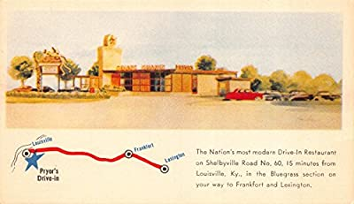 Postcard Pryors Drive-In Restaurant near Louisville, Kentucky~112576