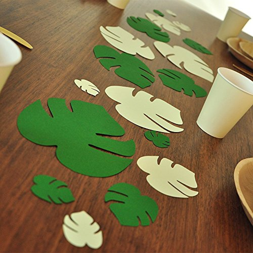 Jumbo Leaf Confetti. Moana Birthday Party. Luau Party Decorations. Tropical Leaf Wall Art. 18CT. by Confetti Momma