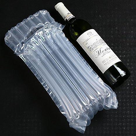 10 St/ück logei/® Wein Aufblasbare Luftpolsterfolie Luftpolster Transport Taschen Versandtasche Noppenfolie f/ür Flasche Weinflasche