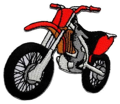 Racing Team Red Motocross Supermoto Motorcycles Biker DIY Applique Embroidered Sew Iron on Patch (Jacket Supermoto)