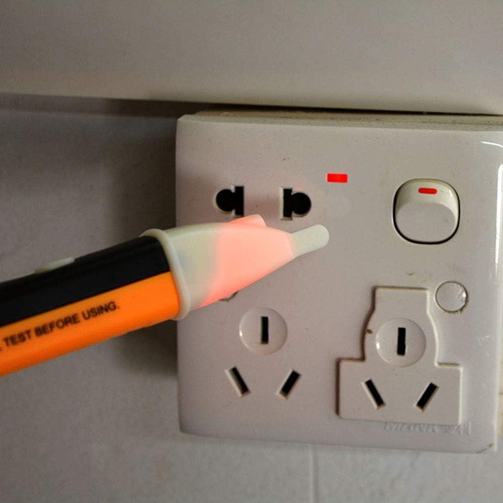 Szaerfa Ber/ührungslose Spannungspr/üfer Teststift elektrische LED-Lichtanzeige AC elektronische Spannungspr/üfer Volt Alarm Stift Detektor Sensor 90-1000V