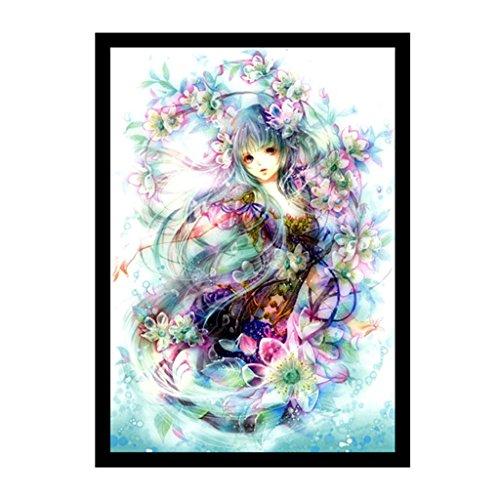 JAGETRADE美しい女の子5Dダイヤモンド刺繍絵画DIYクロスステッチの家の装飾30x40cm