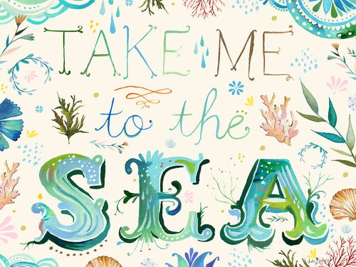 24 by 18-Inch NB15960 Oopsy Daisy Posters That Stick Wall Decal Take Me to The Sea by Katie Daisy