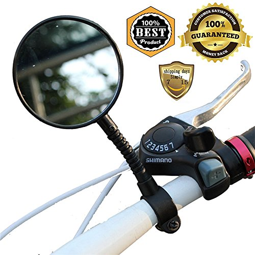 MeanHoo 1 Pair Adjustable Flexible Handlebar Mirror Black Rearview Back Mirror Mini Bike Cycling Rearview bicycle parts