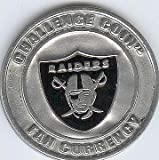 NFL Oakland Raiders Challenge Coin Poker Guard with black velvet pouch