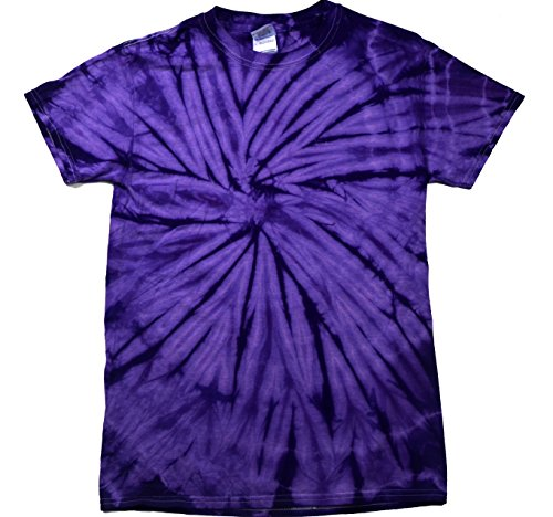 Colortone Tie Dye T-Shirt 3X Spider Purple - Purple 3x T-shirt