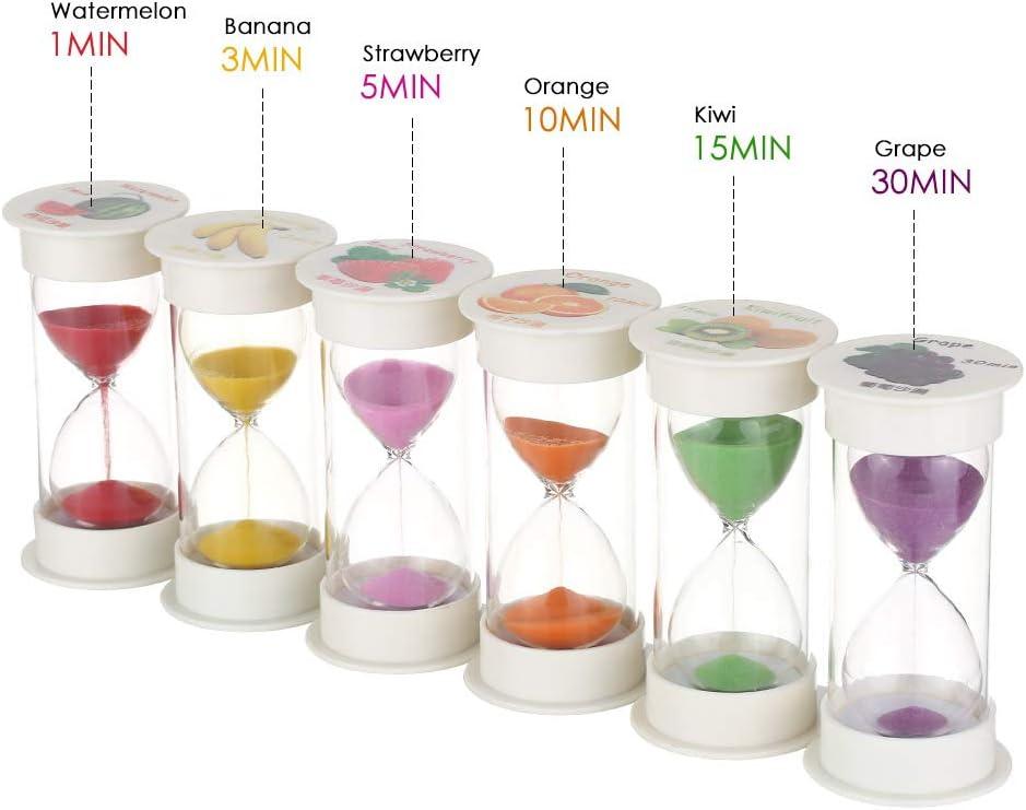 5mins Sand Timer 6 Colors Hourglass Timer 1min 3mins 10mins 15mins //30mi