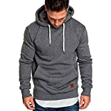 Ulanda Men's Long Sleeve Autumn Winter Casual Sweatshirt Hoodies Pullover Top Blouse Tracksuits