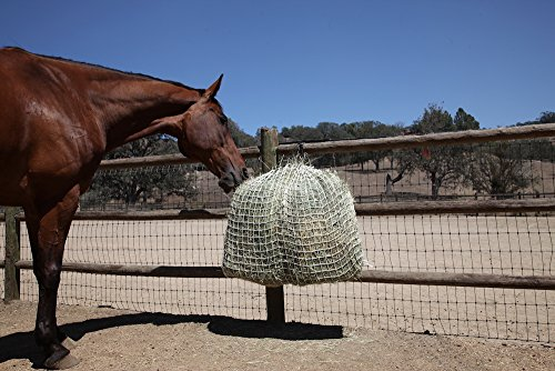 Freedom Feeder Mesh Net Full Day Slow Horse Feeder  Designed to Hold 30 lbs/4 Flakes of Hay and Feed Horse All Day  Reduces Horse Feeding Anxiety and Behavioral Issues