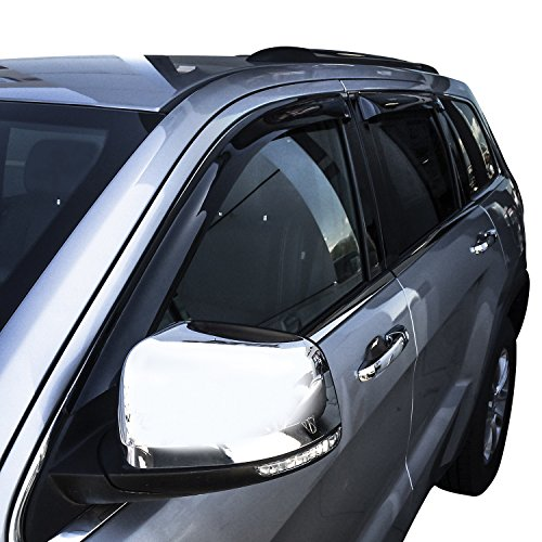 Wade 72-51490 Smoke Slim Wind Deflector, 4 (Wade Sunroof Wind Deflector)