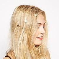New Women Star Gold Swirl Spring Hair Clip Hairpin Hair Accessory Gift
