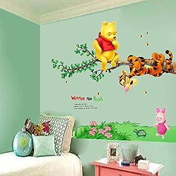 Winnie The Pooh Tigger Tree Wall Decals Vinyl Mural Sticker Kids Nursery  Decor