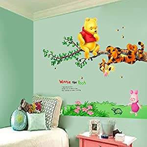 Amazoncom Winnie The Pooh Tigger Tree Wall Decals Vinyl Mural - Wall stickers for kids