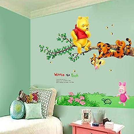 Amazon.com: Winnie the Pooh Tigger Tree Wall Decals Vinyl Mural ...