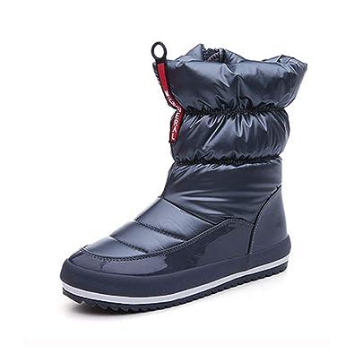 Damens Winter Waterproof Snow ... Stiefel Fur Warm Platform ... Snow 9ab3b4