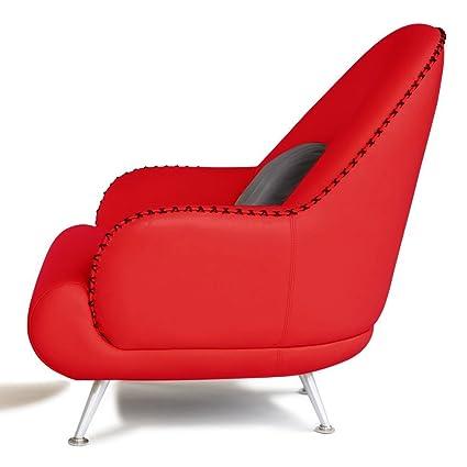 Charmant Zuri Furniture Modern Vitali Red Microfiber Leather Chair