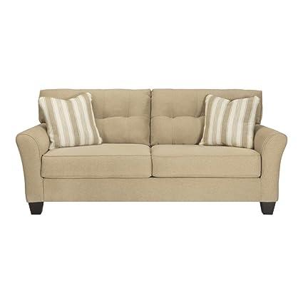 amazon com benchcraft laryn contemporary living room sofa 2