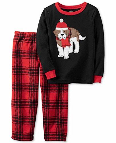 Carter's Boy's 2-Piece Fleece Pajama Sets (5, Plaid Dog)