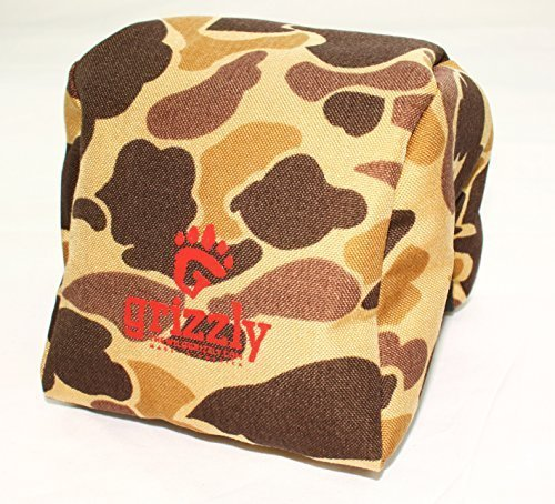 Grizzly Camera Bean Bag MEDIUM-WILDERNESS CAMOUFLAGE Photography Bean Bag, Video Bean Bag, Camera Support, Camera Sandbag, Spotting Scope Support, Birders, Tripod, African Safari, Photography Tours. (Camouflage Bean Bag)