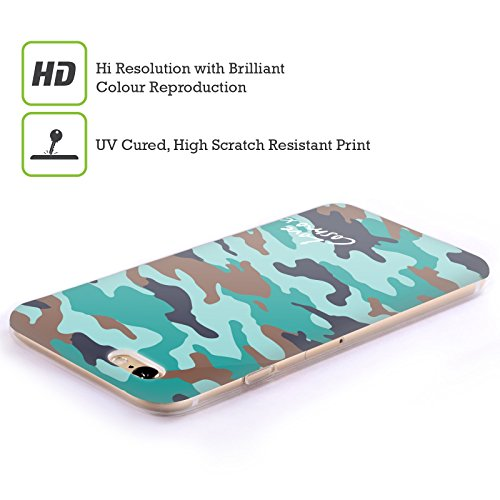 Official Cosmopolitan Brown Teal Camo Soft Gel Case for Apple iPhone 5c