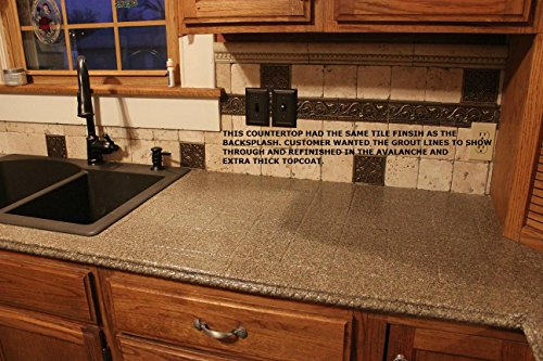 Armor Garage Kitchen Countertop Refinishing Kit Graphite Extra Thick