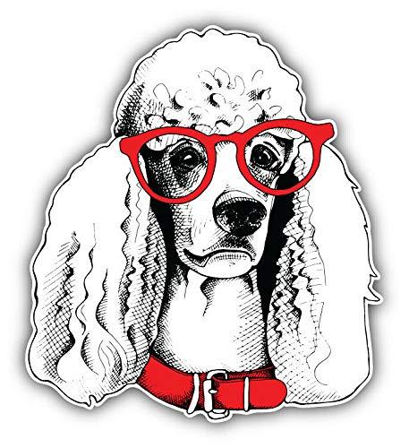 KW Vinyl Fashion Poodle Dog Face Sketch Truck Car Window Bumper Sticker Decal 5